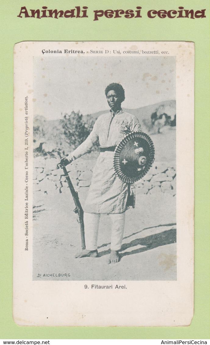 AFRICA ORIENTALE - ERITREA - COLONIA - FITAURARI AREI - CARTOLINA - LT60-036 - Eritrea