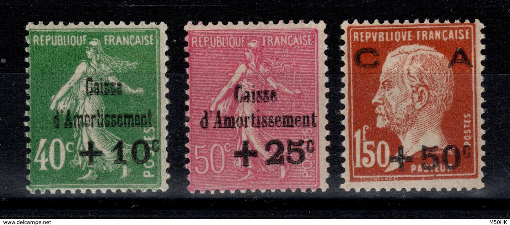 YV 253 à 255 N* Caisse Amortissement Cote 120 Euros - France