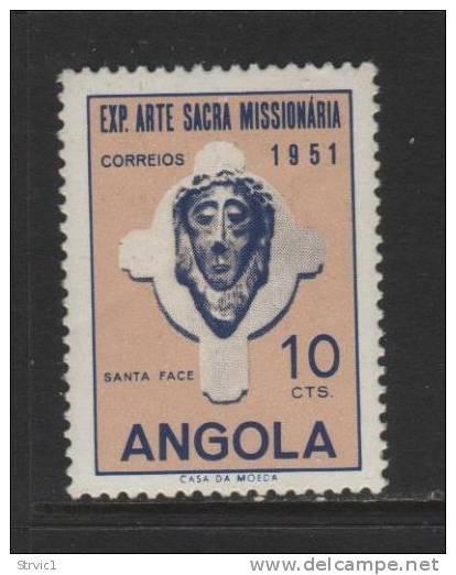 Angola, Scott # 359 Mint Hinged Head Of Christ, 1951 - Angola