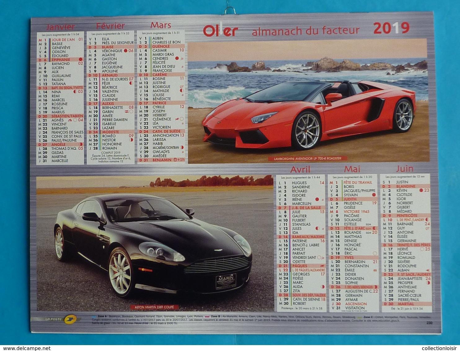 CALENDRIER  ALMANACH  DU  FACTEUR  2019  NEUF - Grand Format : 2001-...
