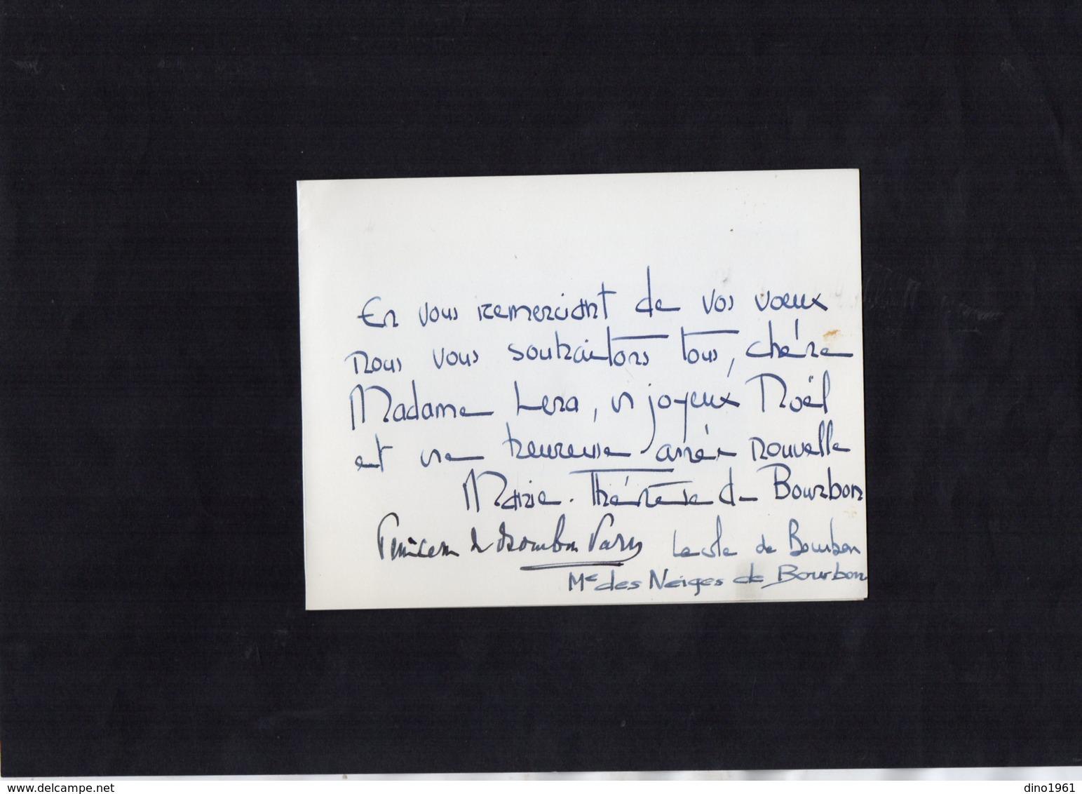 VP13.562 - PARIS - Noblesse - Autographe De Mme Marie - Thérèse De BOURBON Princesse De BOURBON - PARME ...... - Autographes