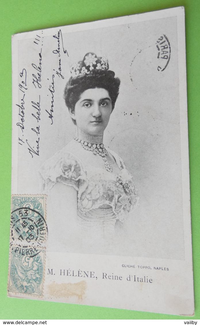 M. HELENE Reine D'italie - Familles Royales