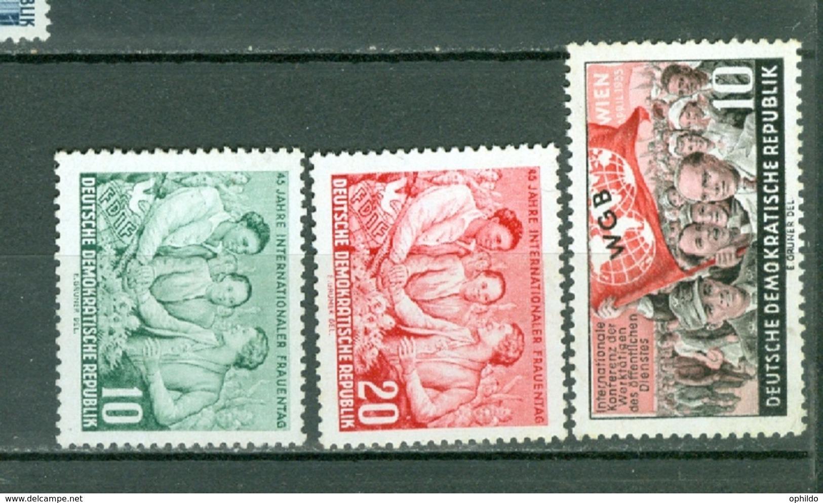 DDR  Yvert  187/188 Et 189   * *  TB - [6] République Démocratique