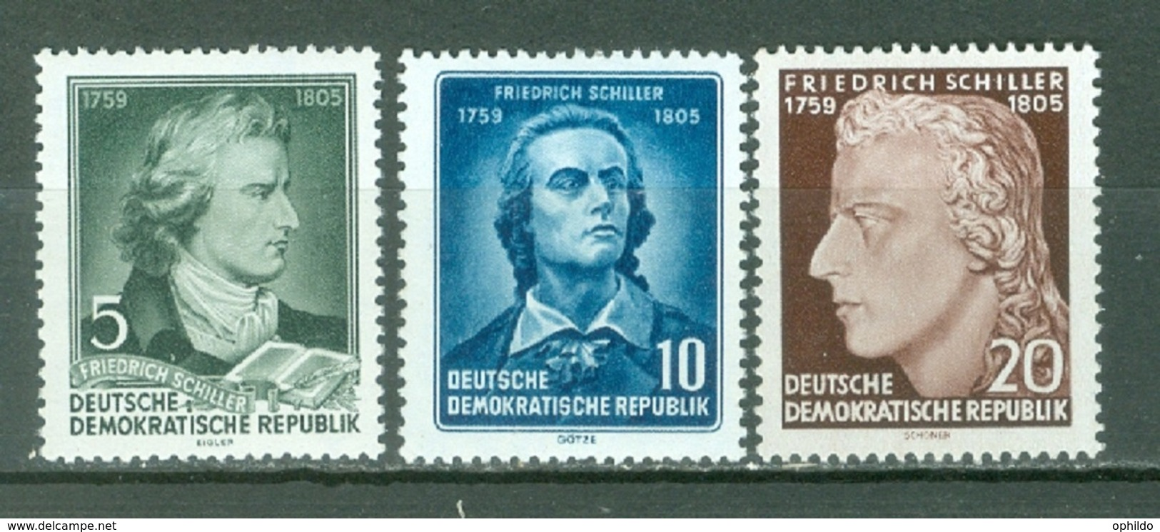 DDR  Yvert  200/202   * *  B/TB - [6] République Démocratique