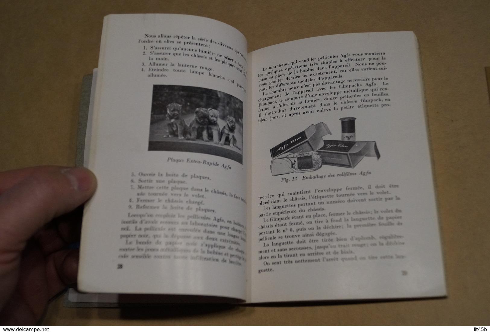 Ancien Manuel Photographique Agfa + Ancien Négatif Original,88 Pages,15,5 Cm. Sur 11,5 Cm. - Photographie
