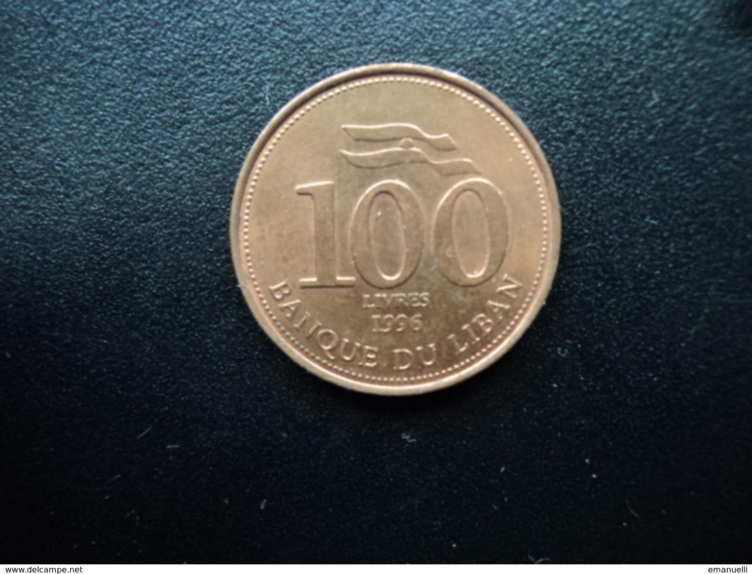 LIBAN : 100 LIVRES   1996 (c)  KM 38    SUP - Liban