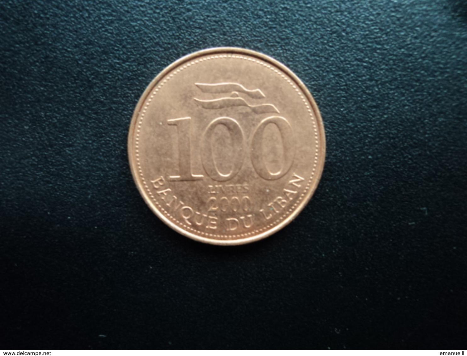 LIBAN : 100 LIVRES   2000 (a)  KM 38    Non Circulé - Liban