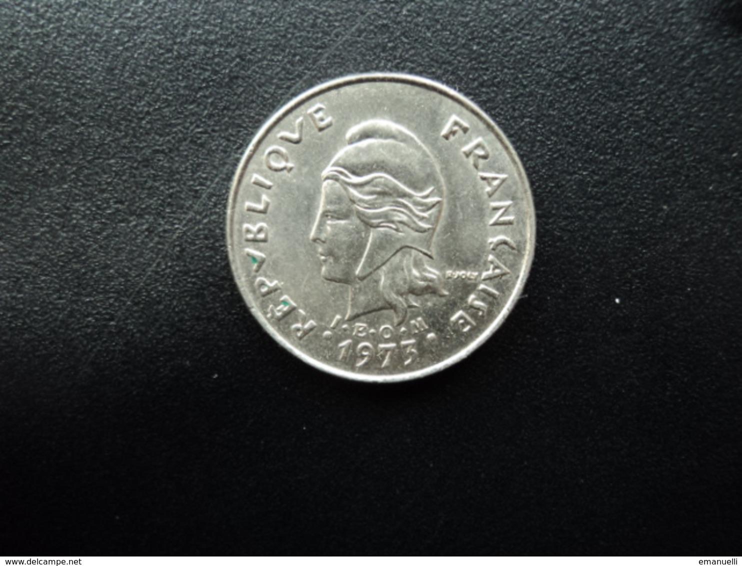 POLYNÉSIE FRANÇAISE : 10 FRANCS   1973   G.70 / KM 8     SPL - Polynésie Française