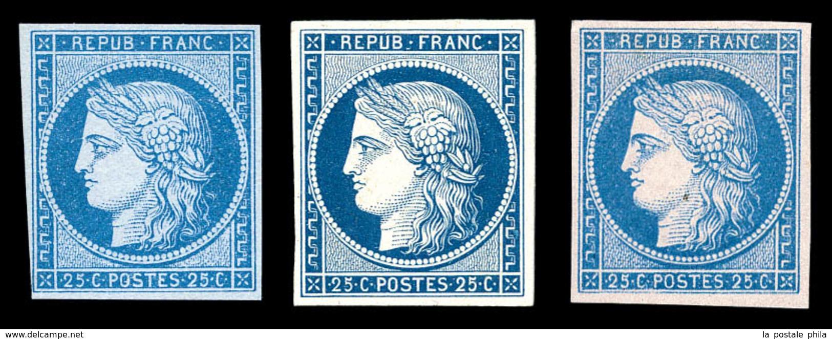 (*) N°4, 25c Cérès, 3 Essais Différents. TB  Qualité: (*)  Cote: 400 Euros - France