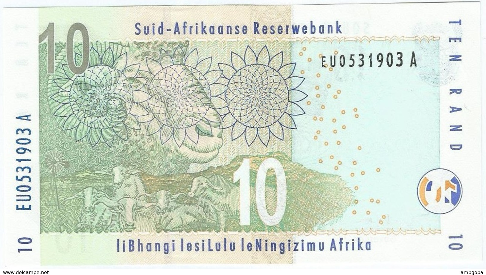 Sudáfrica - South Africa 10 Rand 2005 Pick 128a UNC - Suráfrica