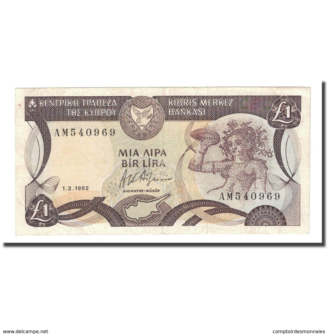 Billet, Chypre, 1 Pound, 1992-02-01, KM:53b, NEUF - Chypre