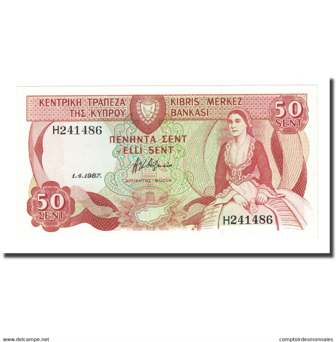 Billet, Chypre, 50 Cents, 1987-04-01, KM:52, NEUF - Chypre