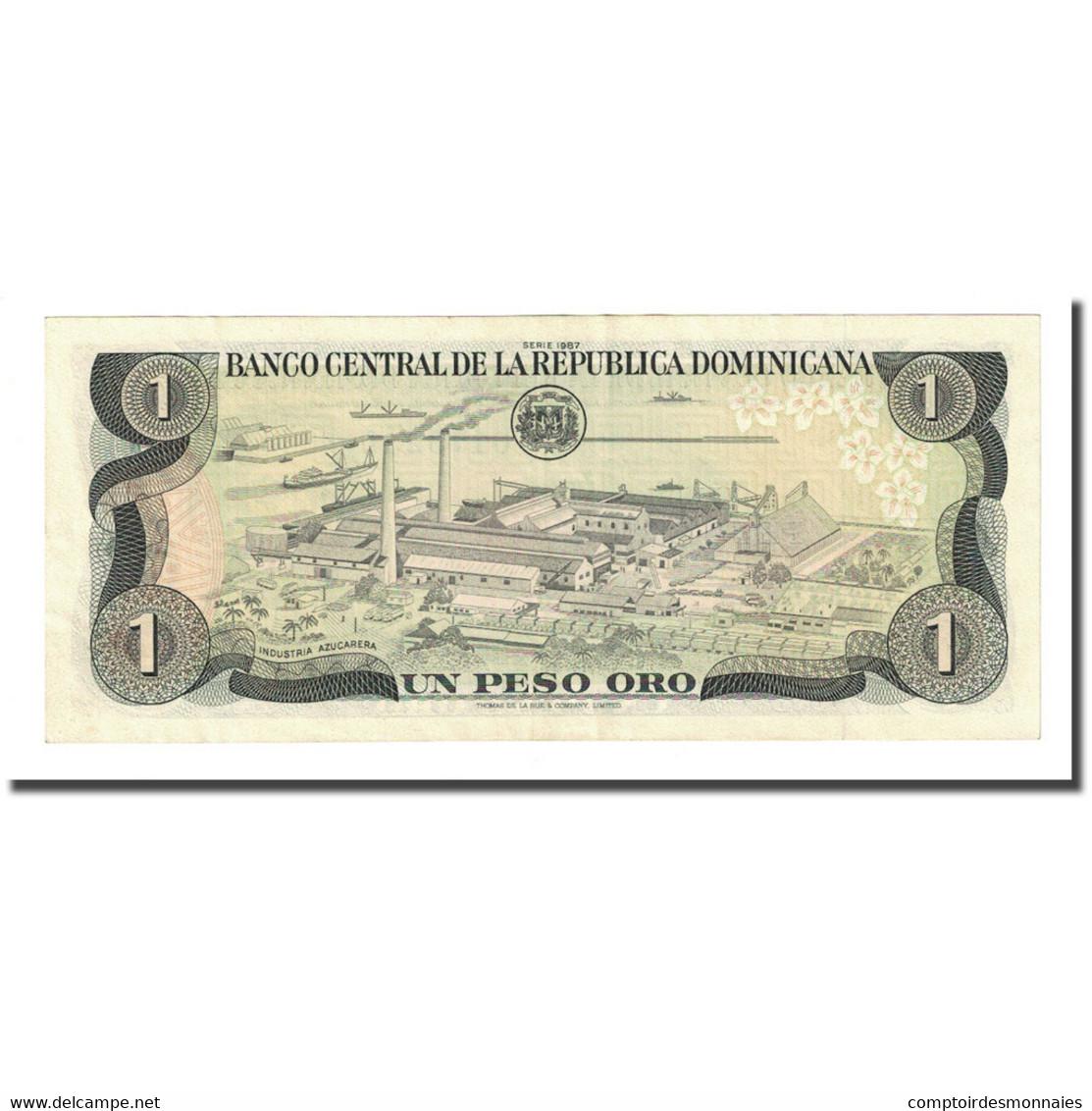 Billet, Dominican Republic, 1 Peso Oro, 1987, KM:126a, TTB+ - Dominicaine