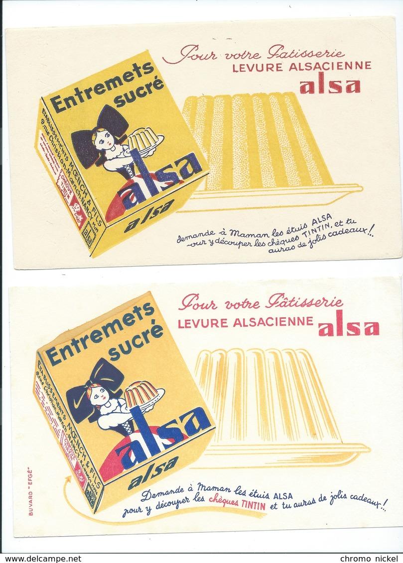 BUVARD X 2  DIFFÉRENTS  ALSA Alsacienne Bien - Alimentaire