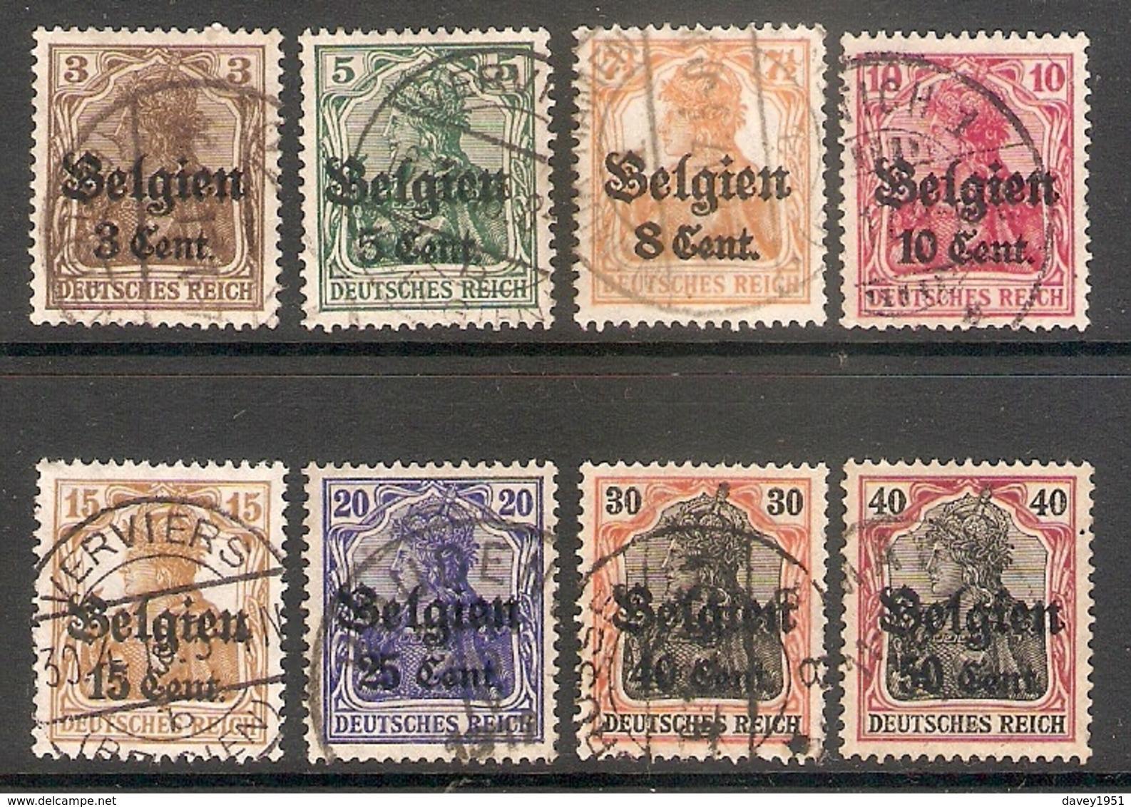001741 German Occupation Of Belgium 1916 FU Lot - Zone Belge