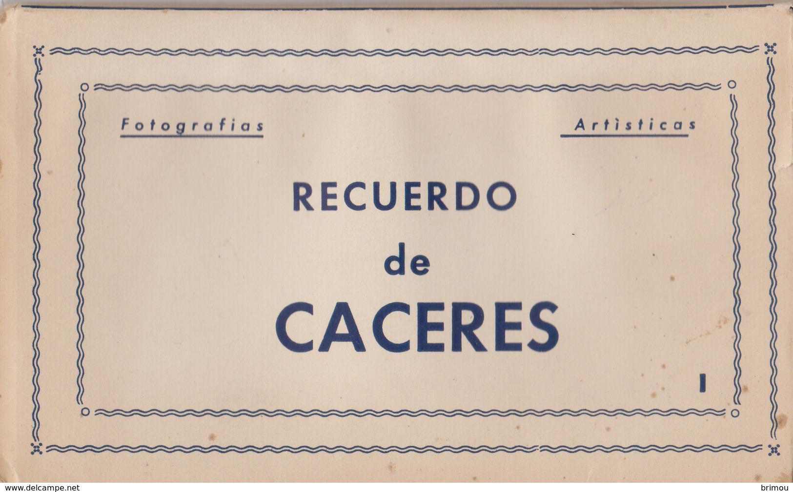 Cáceres Carnet De 10 Vues, Voir Les Scans. Espagne. - Cáceres