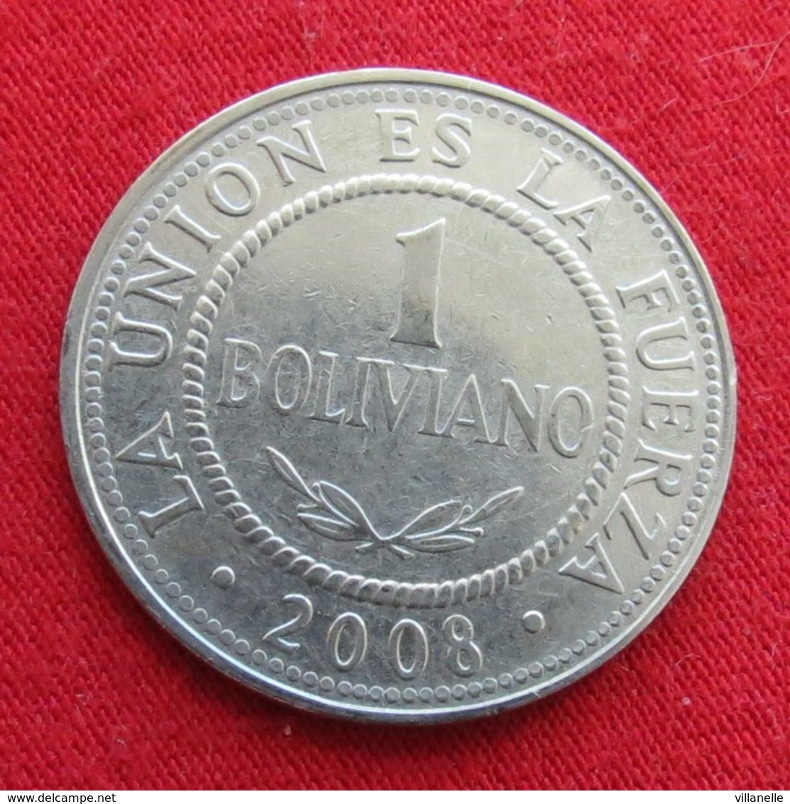 Bolivia 1 Boliviano 2008 KM# 205  Bolivie - Bolivia