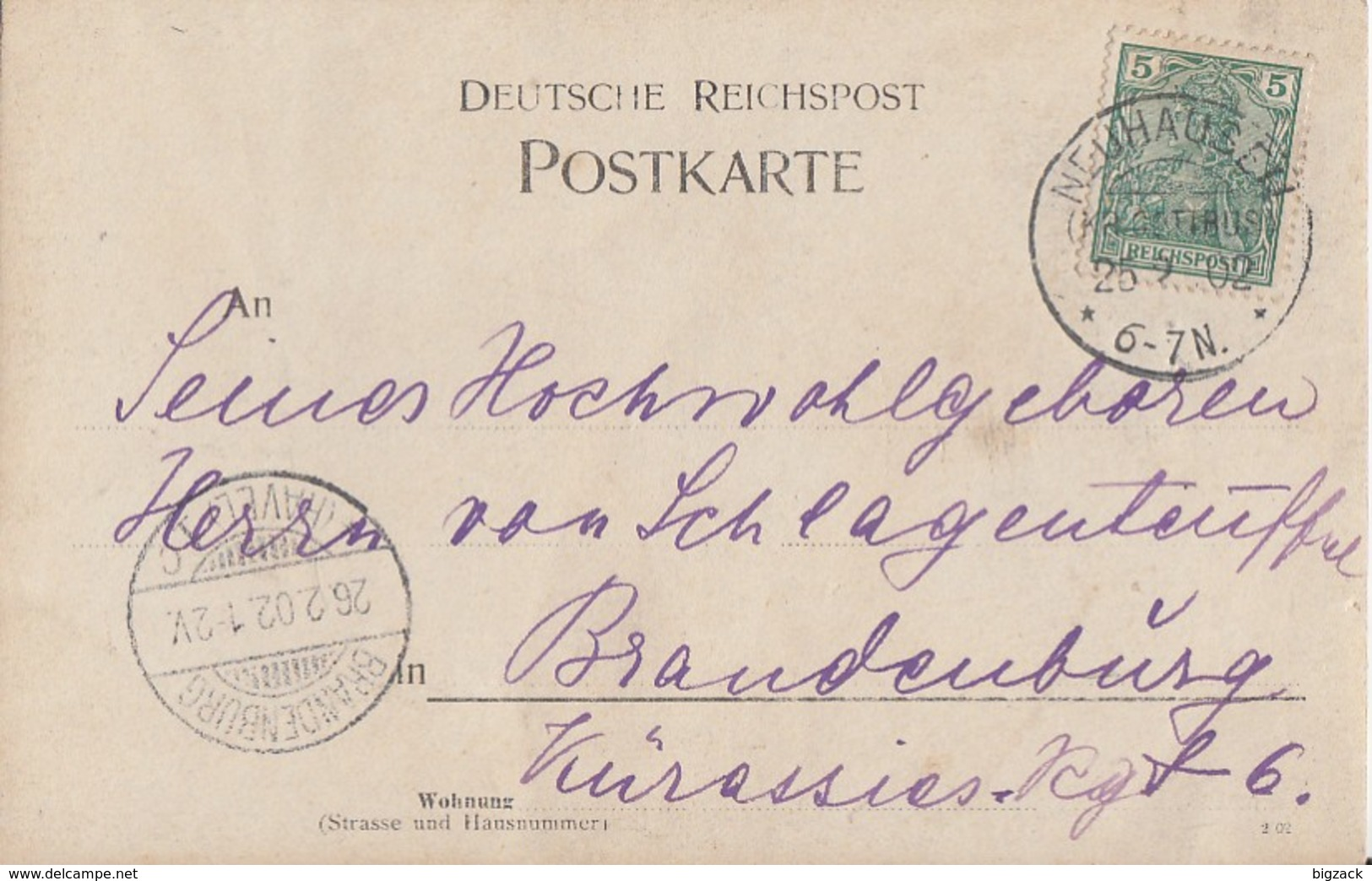 DR AK EF Minr.55 KOS Neuhausen (Kr. Cottbus) 26.2.02 - Deutschland