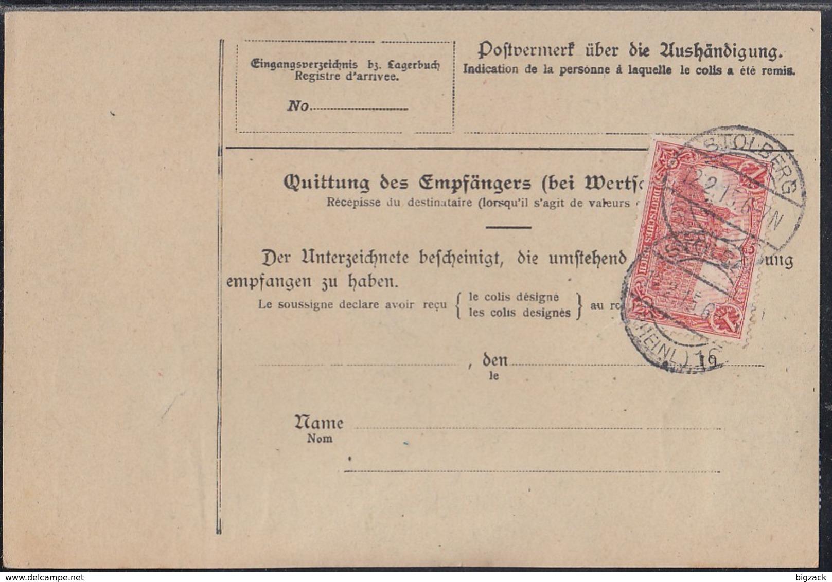 DR Paketkarte Mif Minr.87I,88I,94AI Stolberg (Rheinland) 12.2.15 Gel. In Schweiz - Deutschland