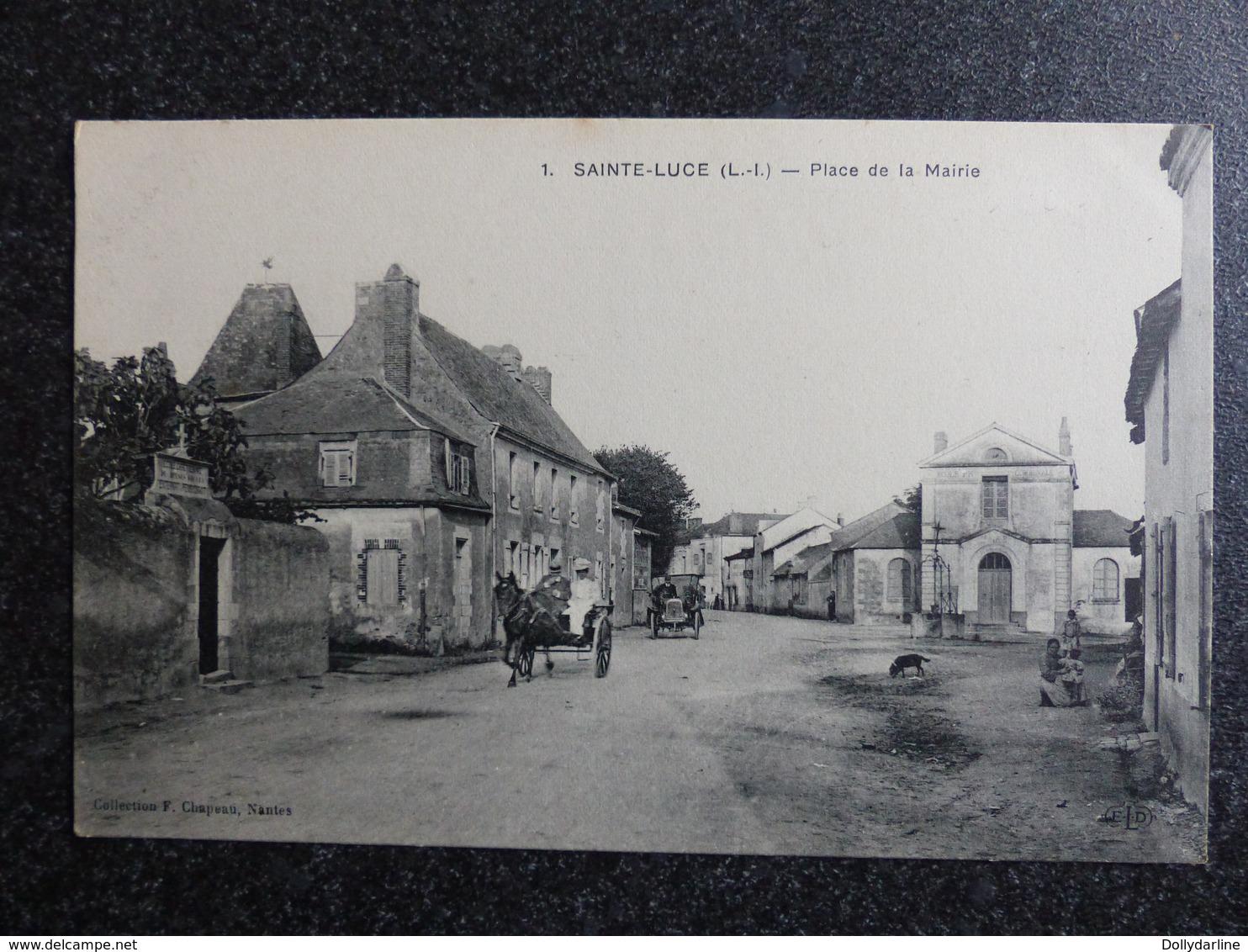 SAINTE LUCE Place De La Mairie Loire Inférieure Atlantique 44 Animée - Otros Municipios