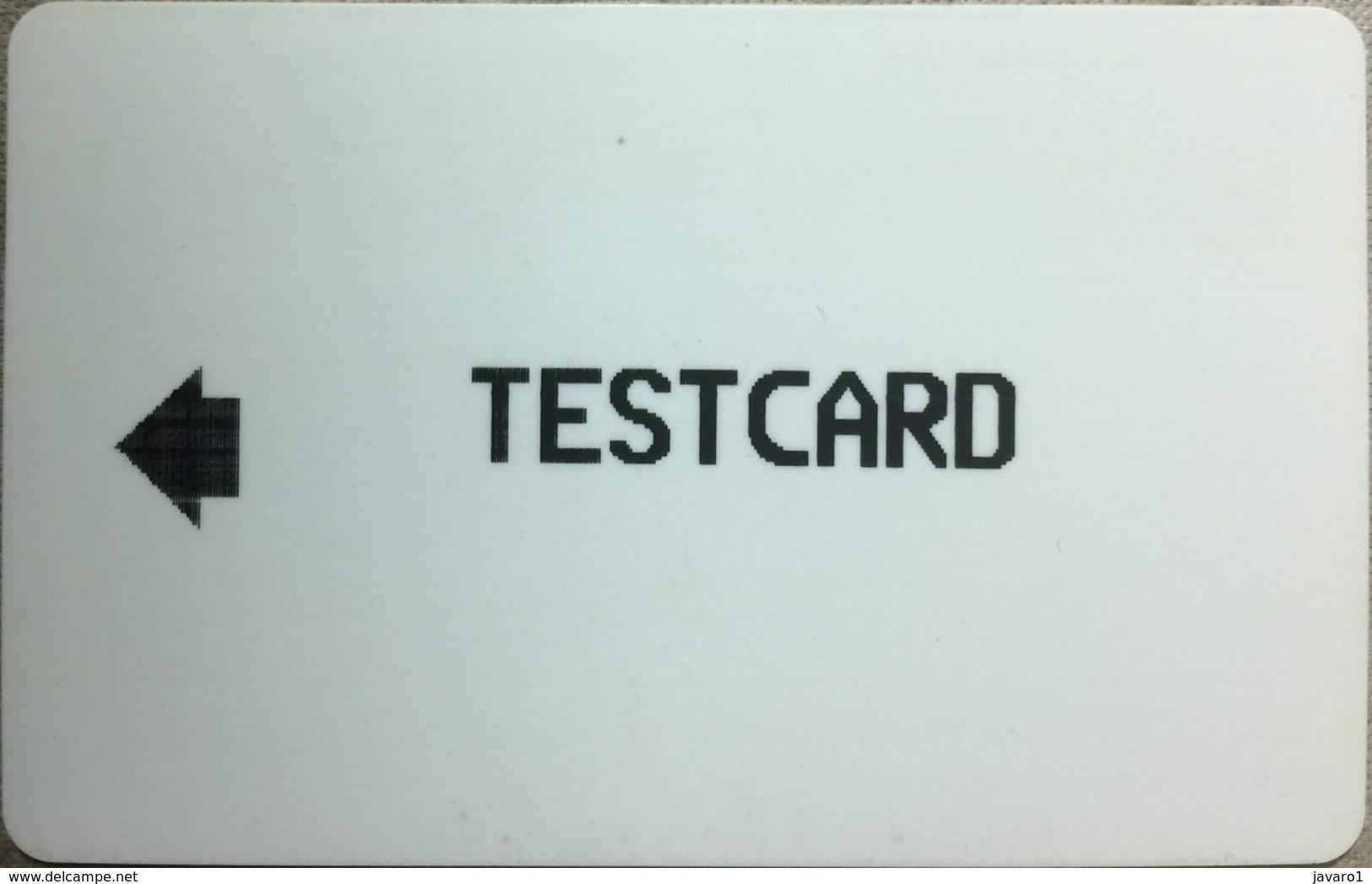 ALCATEL : AT02 999u TESTCARD (upside Down) USED - Belgique