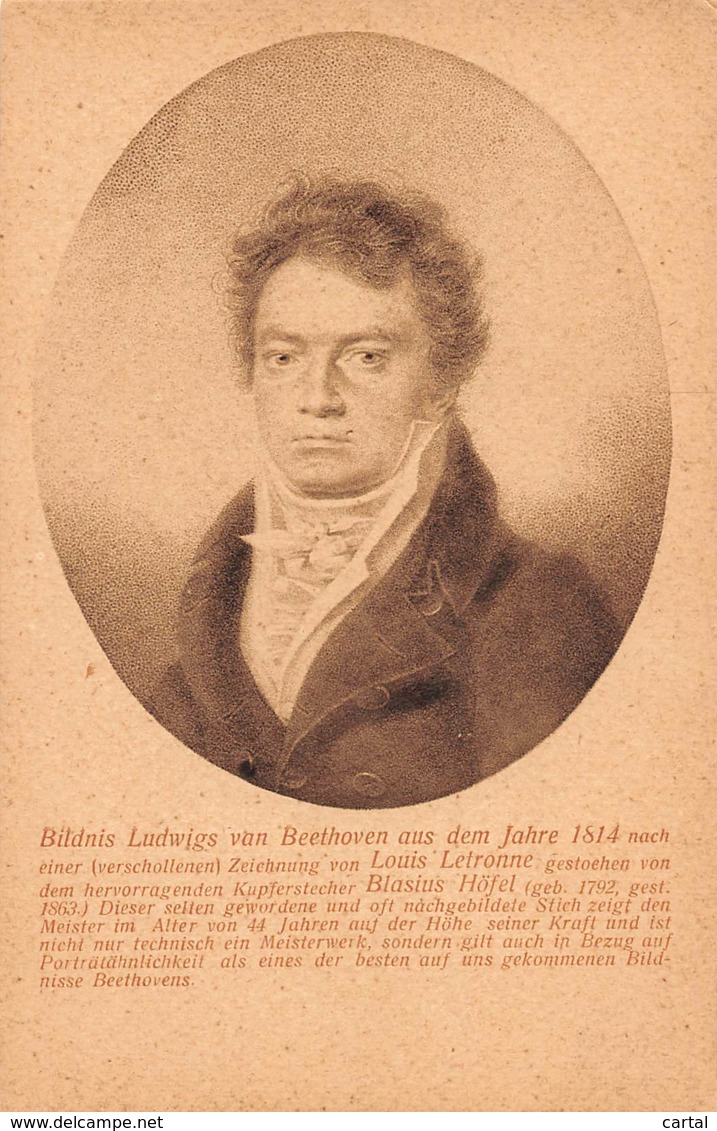 Bildnis Ludwigs Van Beethoven Aus Dem Jahre 1814 - Chanteurs & Musiciens