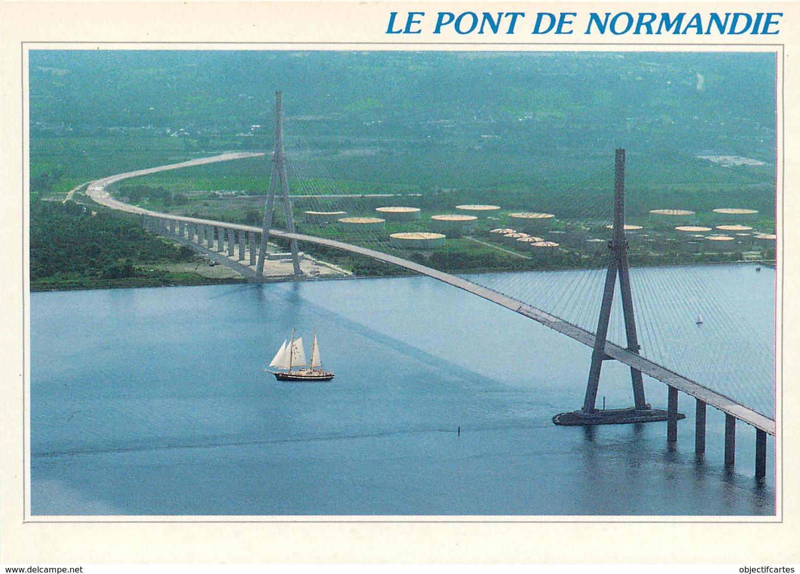 LE HAVRE  Honfleur Le Pont De Normandie Et Vieux Greement  35  (scan Recto-verso)MA2034Ter - Le Havre