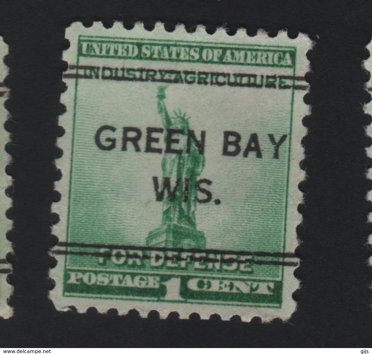 USA 757 SCOTT 899 GREEN BAY WIS - Prematasellado