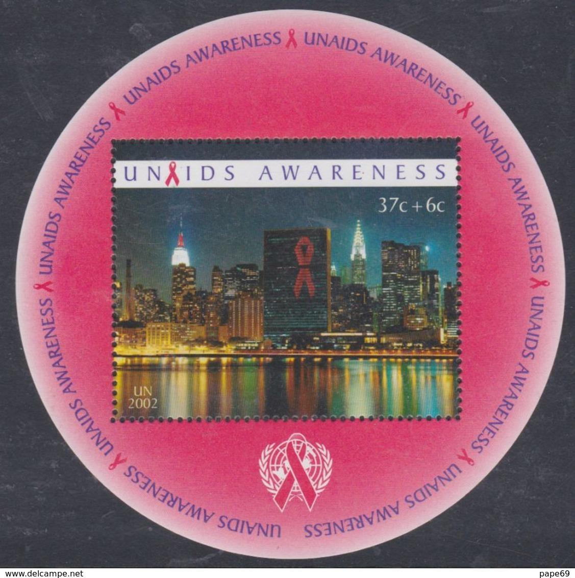 Nations Unies New-York BF N° 23 XX   ONUSIDA Connaissance , Le Bloc Sans Charnière, TB - Ungebraucht