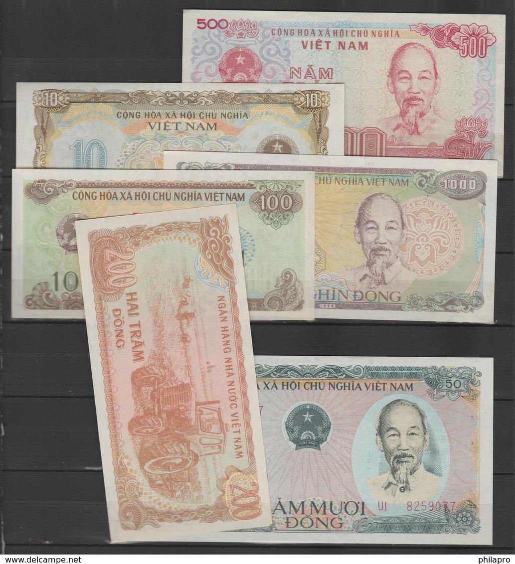 VIETNAM  1980 / 1991 -  6  BANKNOTES X3 (=18)   AU   Réf 80/91A - Vietnam