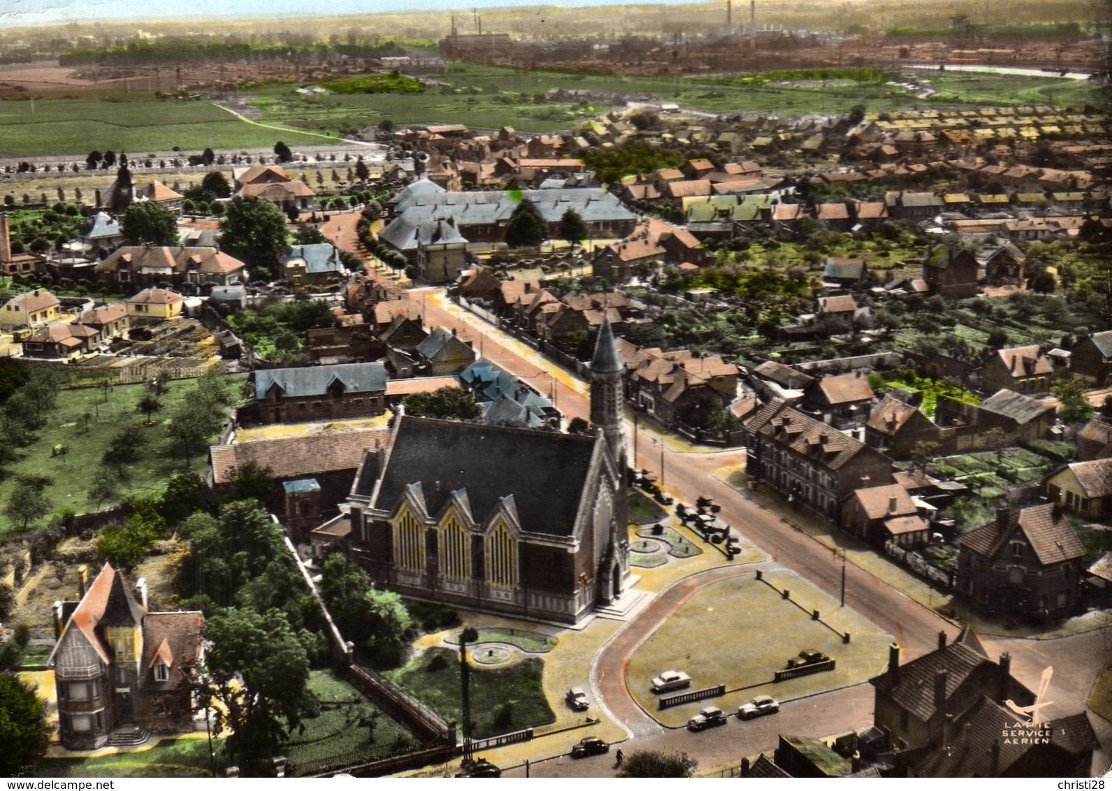 DPT 02 FARGNIERS Vue Panoramique Aérienne L'Eglise - Autres Communes