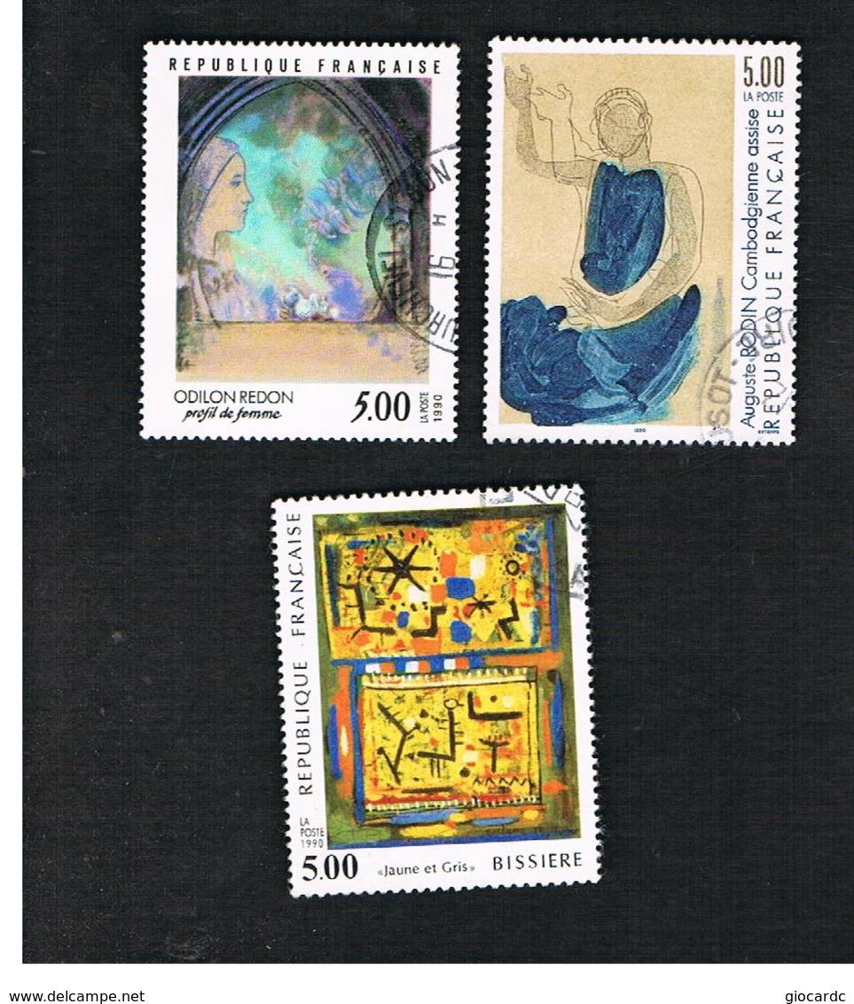 FRANCIA (FRANCE) - SG 2966.2969  - 1990  ART   -    USED - Gebraucht