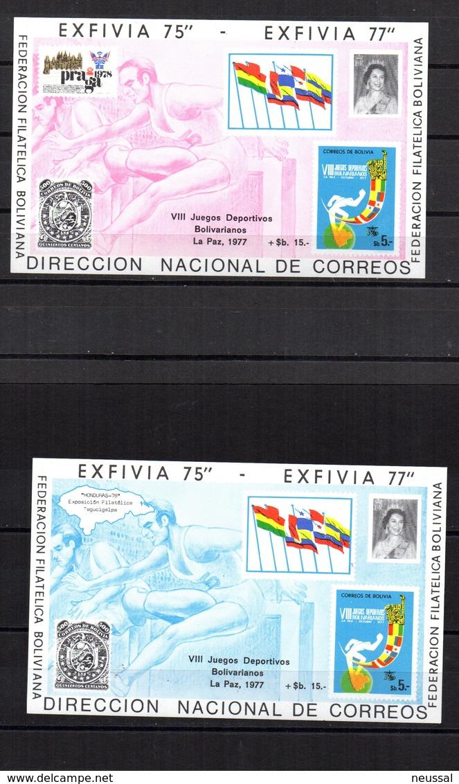 4 Hb De Bolivia Exfivia 1977 - Bolivia
