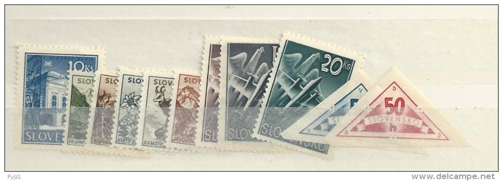 1940 MH Year Collection Slowakei, Slovensko - Unused Stamps