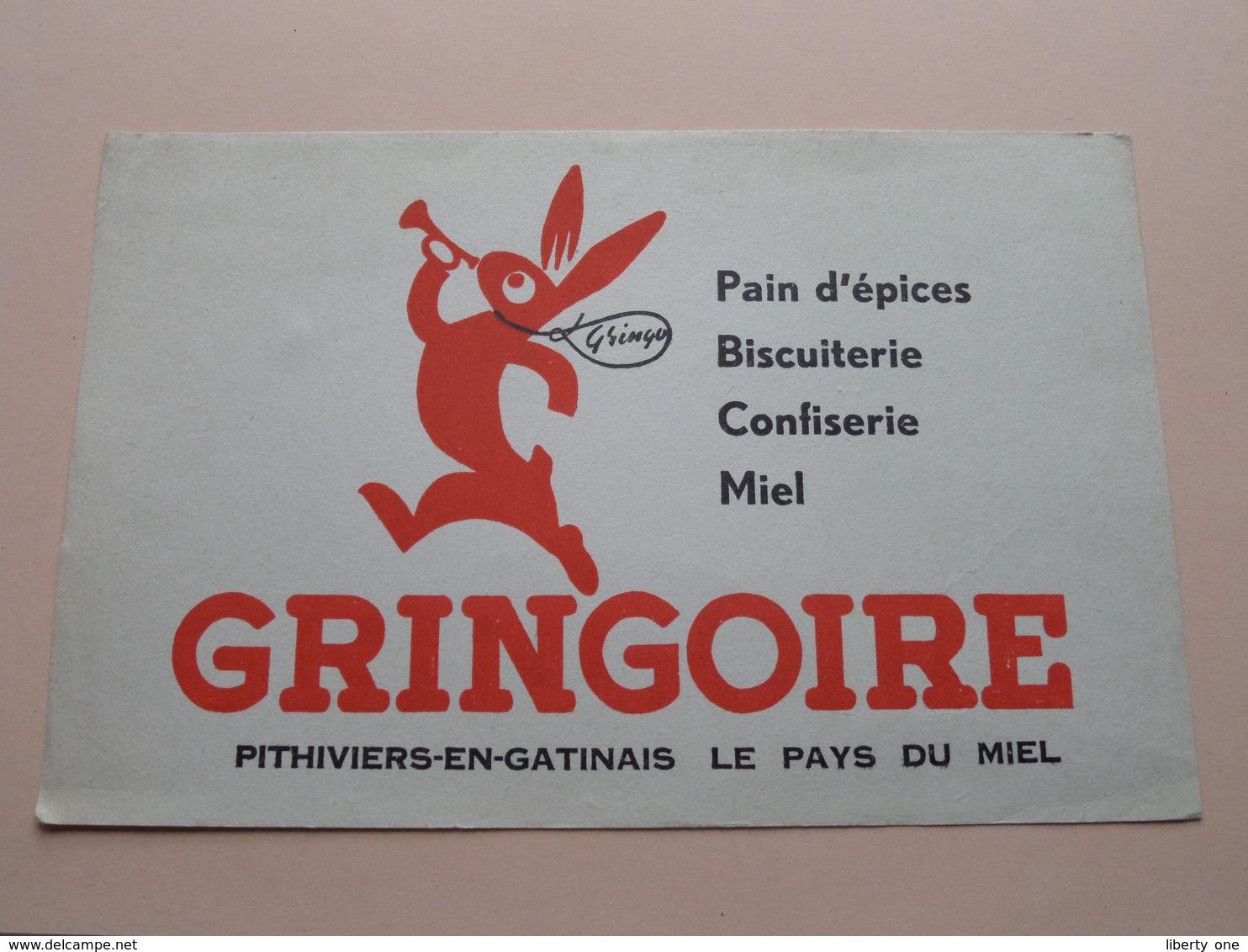 GRINGOIRE ( +/- 13,5 X 21 Cm. ) Buvard ( Voir Photo ) ! - Buvards, Protège-cahiers Illustrés