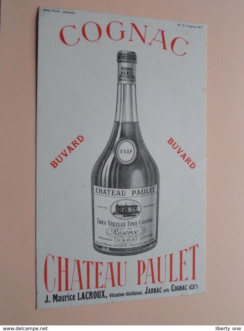 COGNAC Chateau PAULET ( +/- 12,5 X 21 Cm. ) Buvard ( Voir Photo ) ! - Buvards, Protège-cahiers Illustrés