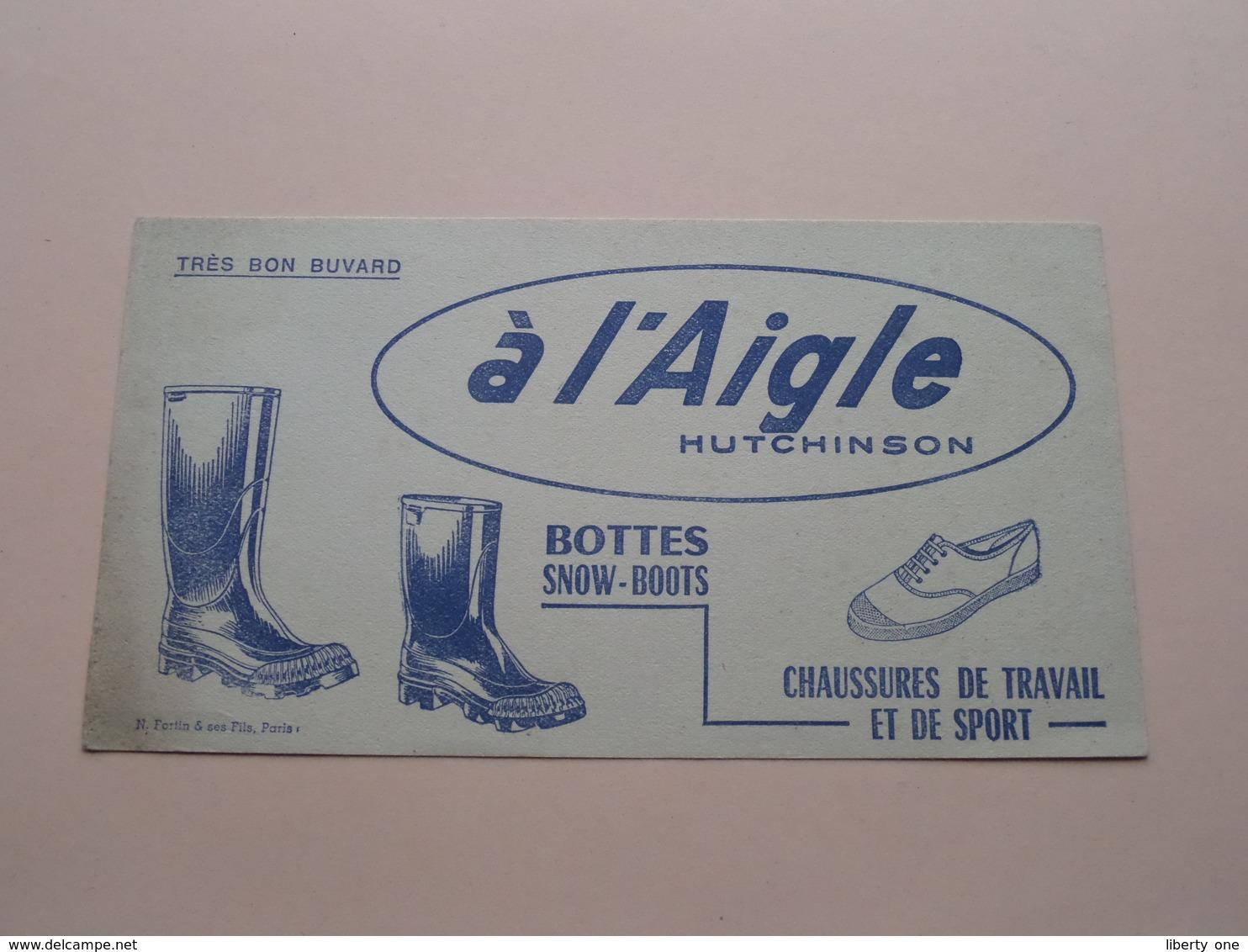 à L'AIGLE Hutchinson ( +/- 10,5 X 19,5 Cm. ) Buvard / Fortin ( Voir Photo ) ! - Chaussures