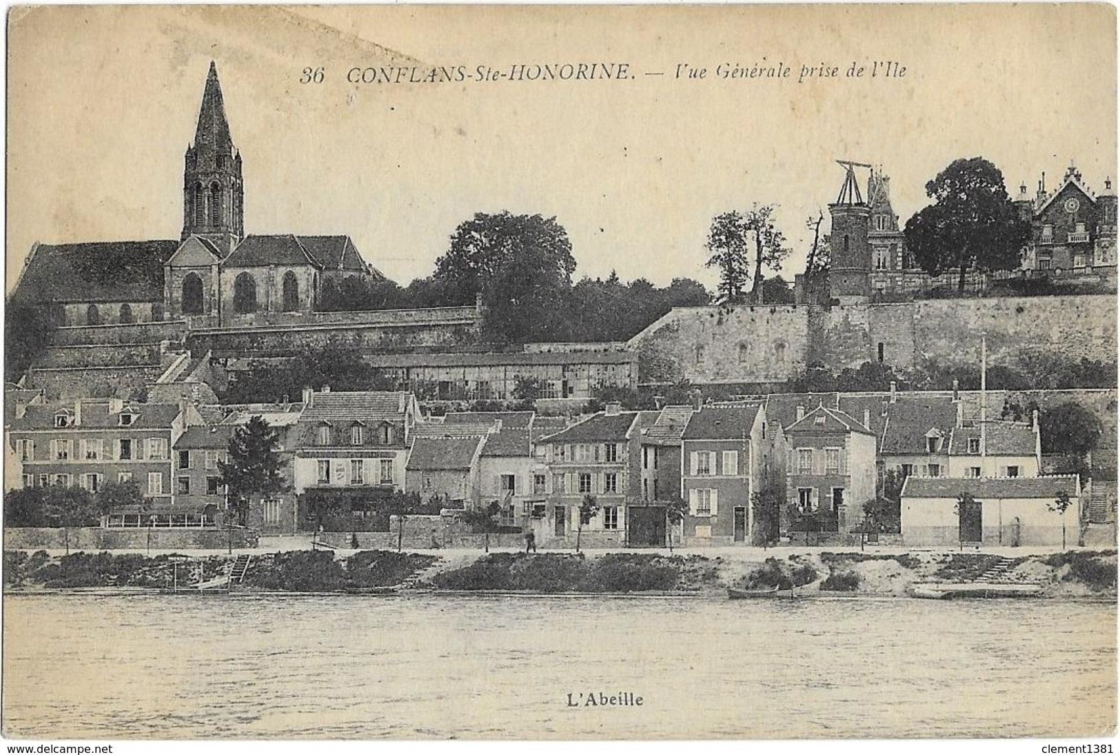 Conflans Saint Honorine Vue Egenrale Prise De L'ile - Conflans Saint Honorine