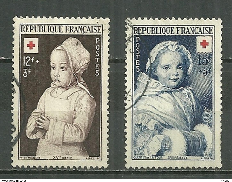 FRANCE Oblitéré 914-915 Croix Rouge Enfant Prière Le Maitre De Moulins Nicole Ricard Quentin De La Tour - France