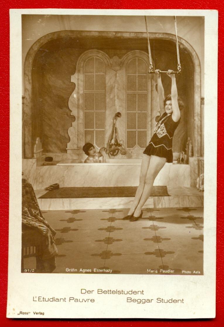 MOVIE STAR GRAFIN AGNES ESTERHAZY - MARIA PAUDIER # 91/2 VINTAGE PHOTO PC. PUBLISHER GERMANY 113 - Actors