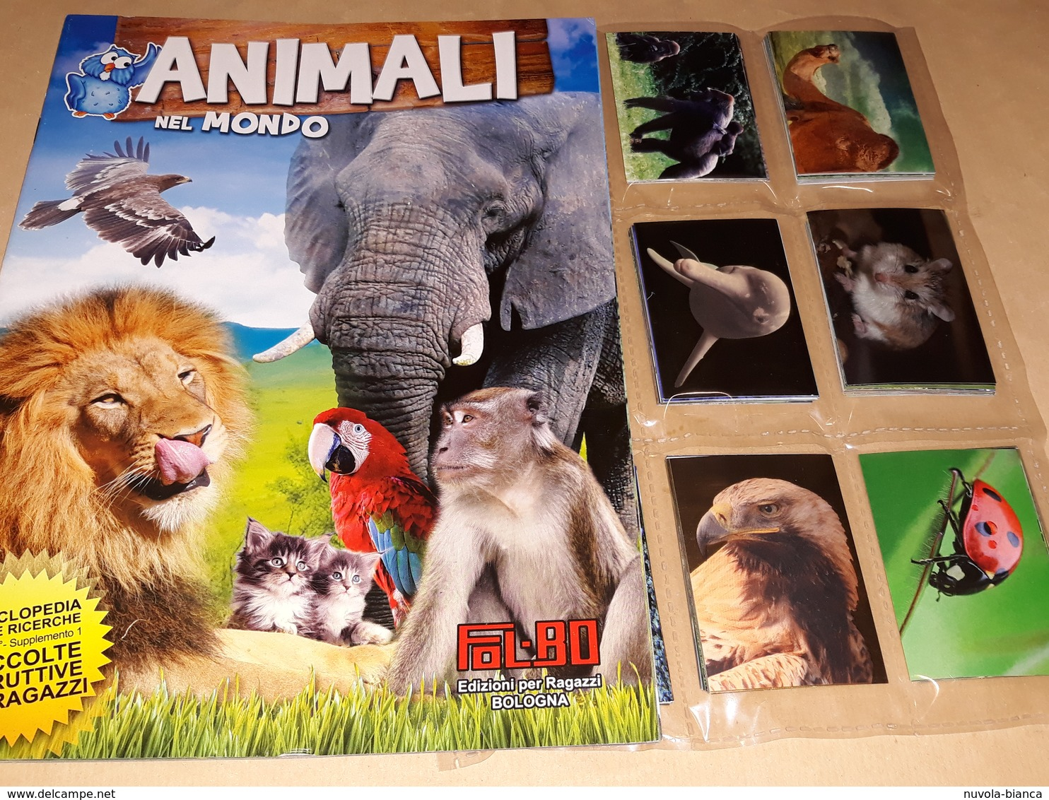 Animali Nel Mondo Album Vuoto+set Completo Figurine E Fuori Raccolta Fol Bo 2011 - Adesivi