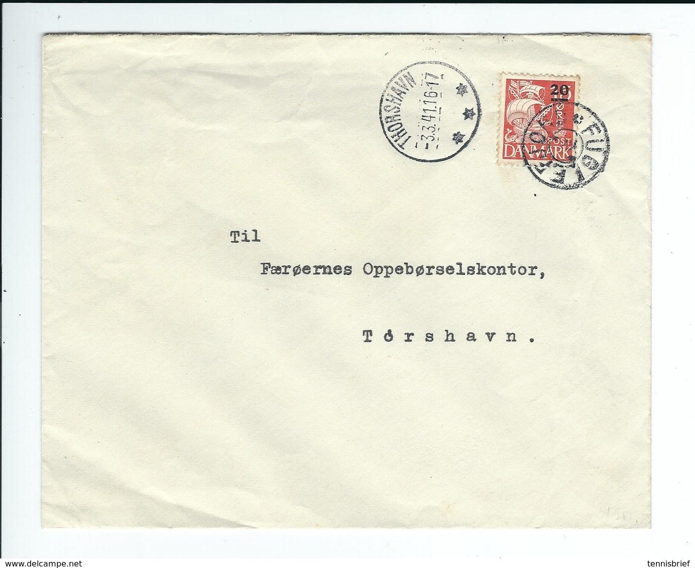 Färöer ,1941,echt Gelauf.Bedarfs- Brief,  Gute Erhaltung , Selt . Stp. ! R !!  #a1574 - Färöer Inseln