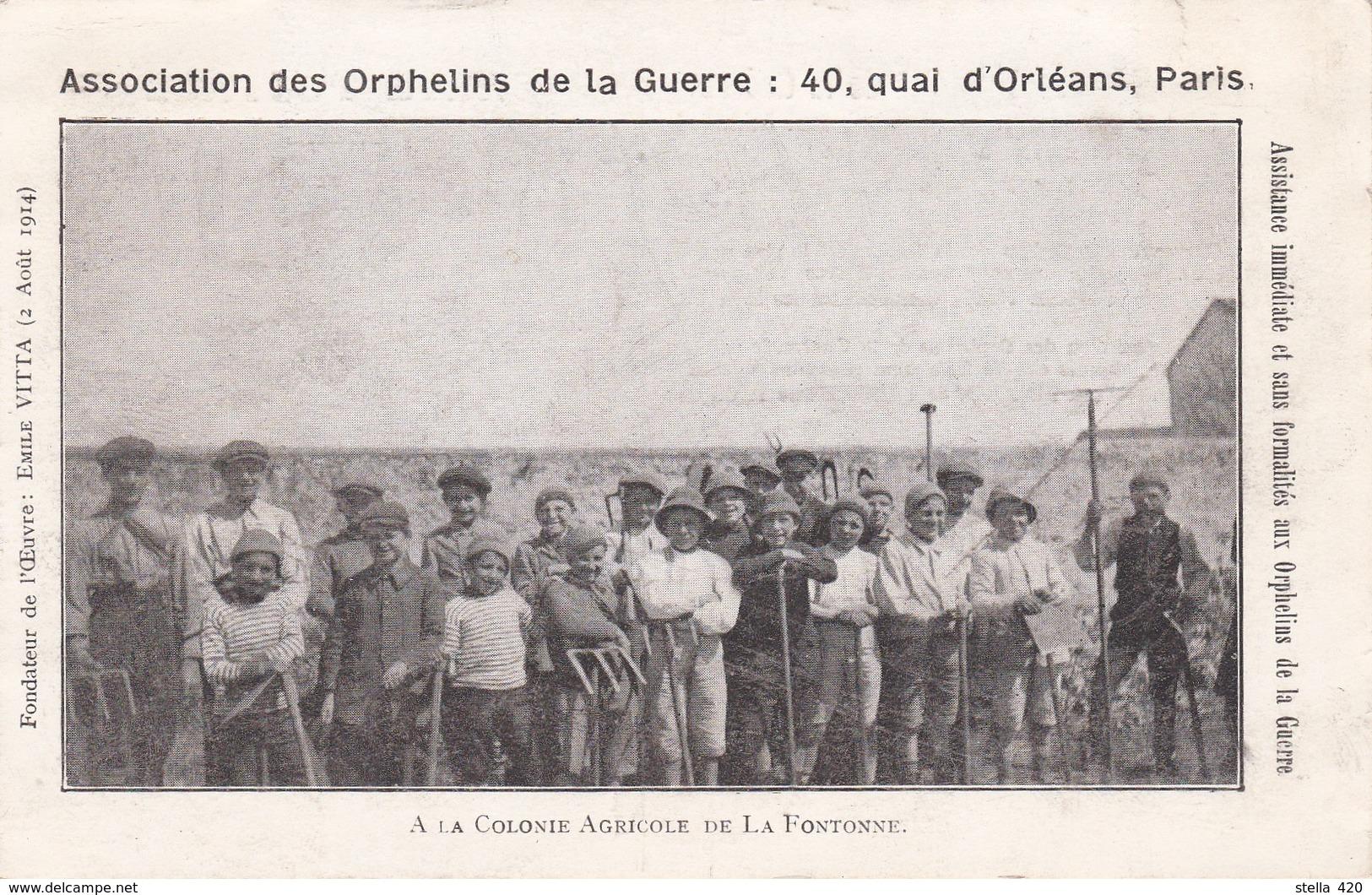 Colonie Agricole De La Fontonne    Orphelins De Guerre - Autres