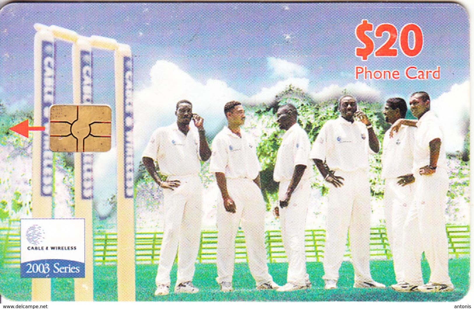 CARIBBEAN ISLANDS(chip) - Cricket Team, Chip GEM6b, Used - Altri – America