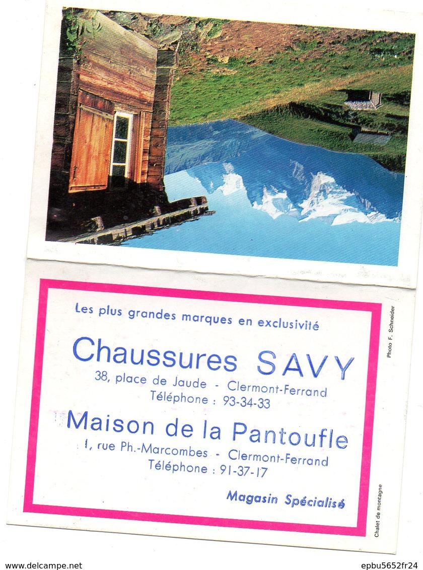 Calendrier De Poche 1967 Offert Par  Chaussures SAVY Et Maison De La Pantoufle à Clernont -Ferrand - Calendriers