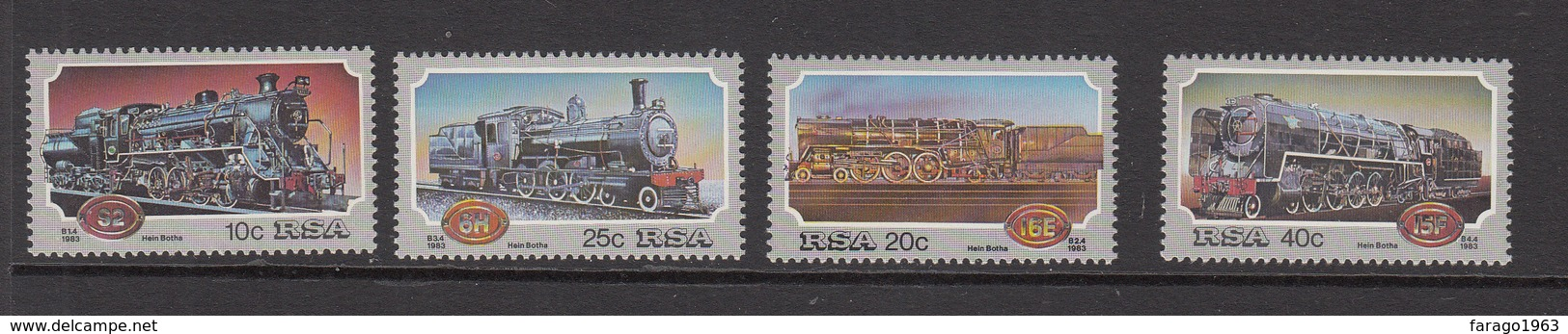1983 South Africa Trains  Complete Set Of 4 MNH - Zuid-Afrika (1961-...)
