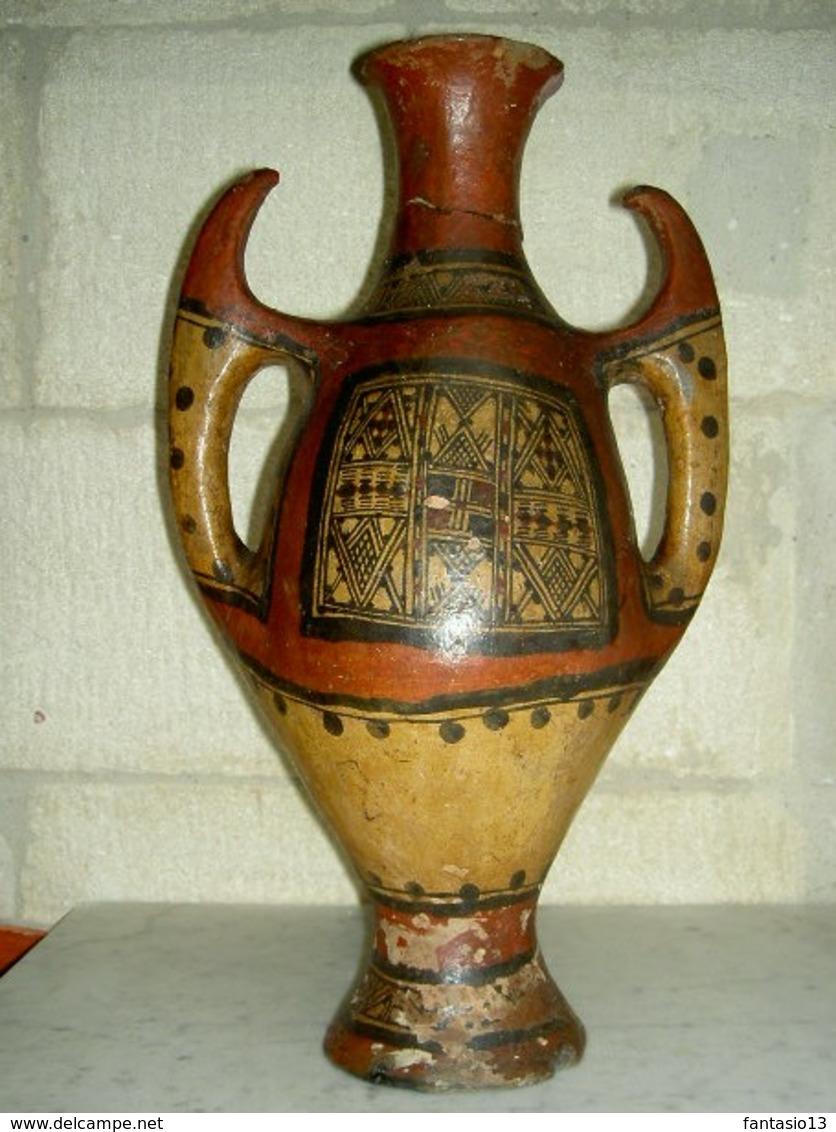 Grande Poterie Ancienne Ideqqi Kabyle Sahara Algérie 44cm - Art Africain