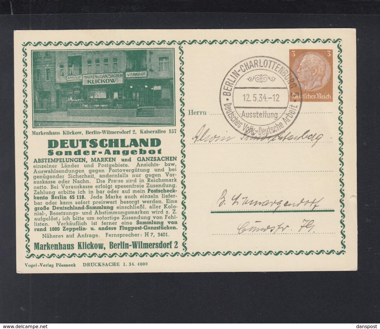 Dt. Reich Bild-PK Markenhandlung Klikow 1935 (3) - Germania