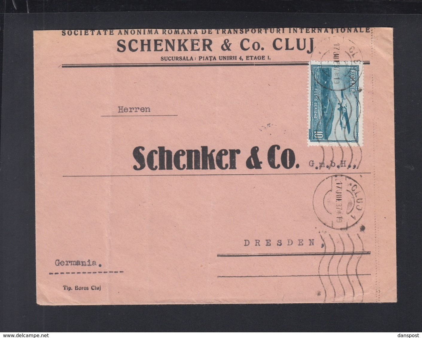 Romania Schenker Cover 1937 To Germany - 1918-1948 Ferdinand, Charles II & Michael