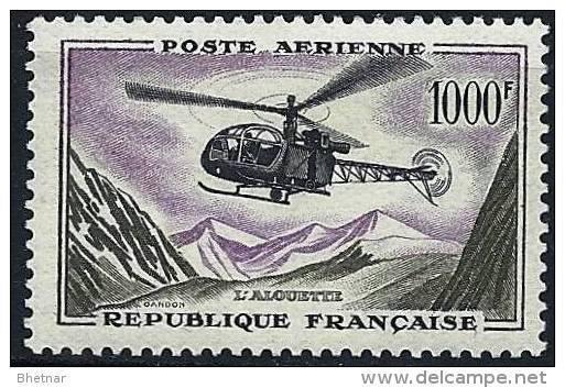 "FR Aerien YT 37 (PA) "" Prototype, Alouette "" 1957-59 Neuf* - Airmail"